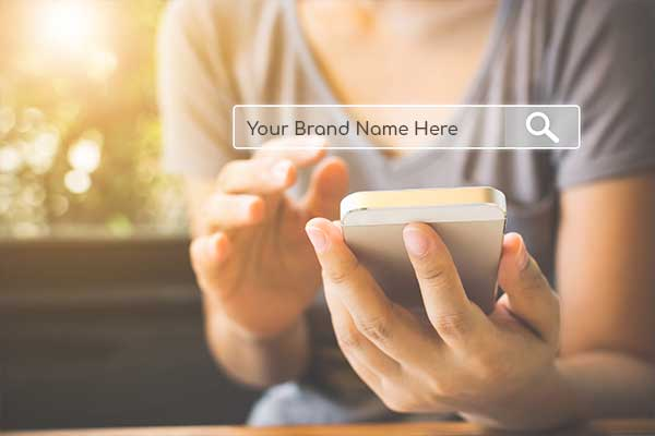 Consumer searching for a brand name